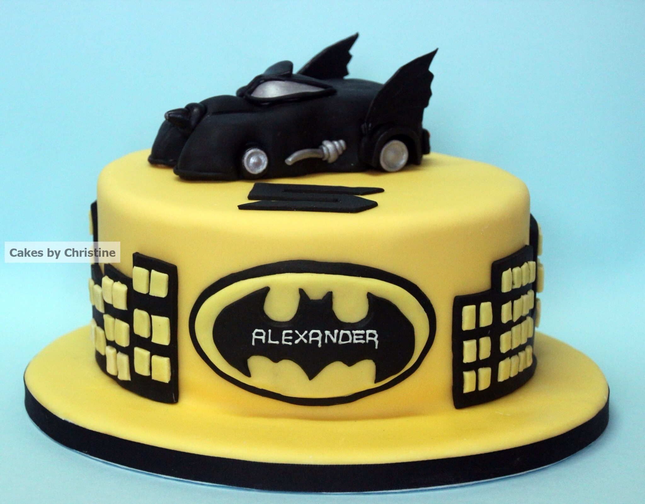 Batman Cake for my Grandson  Cakes by Christine