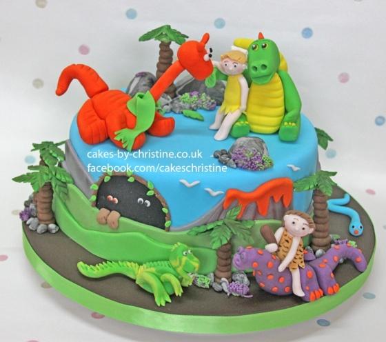 Child's Dnosaur cake