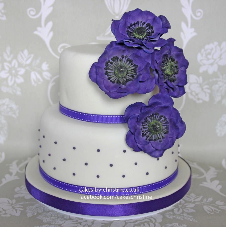 Purple Cakes By Christine