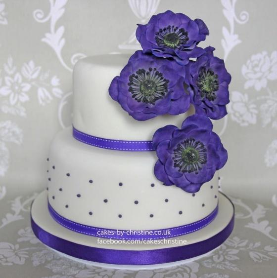 Purple Anemone Cake