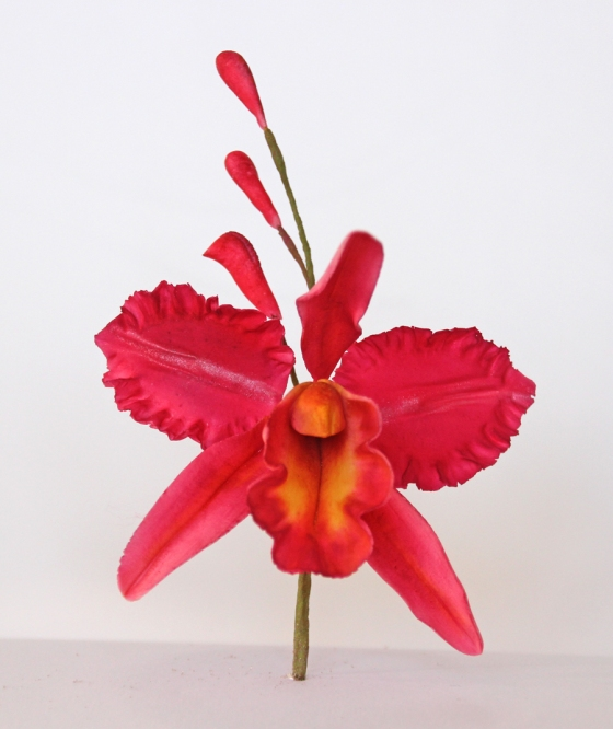 Sugar orchids made at Penningtons School of Cake Artistry