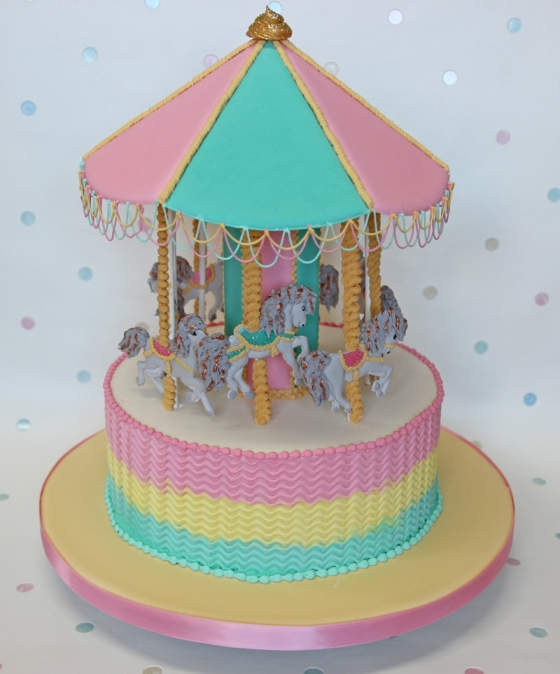 Royal Iced Carousel Cake