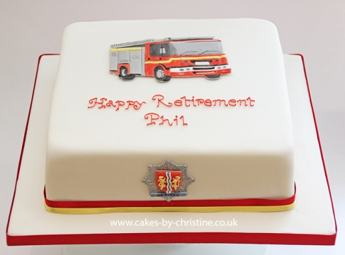 Fire and Rescue Service retirement cake