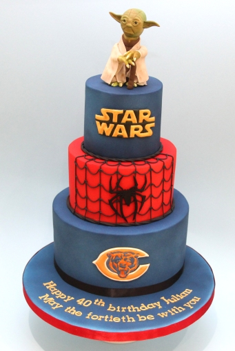 Star Wars meets Spiderman meets Chicago Bears